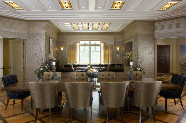 Woodley House Art Deco Dining Room - Eclectic - Dining Room ...