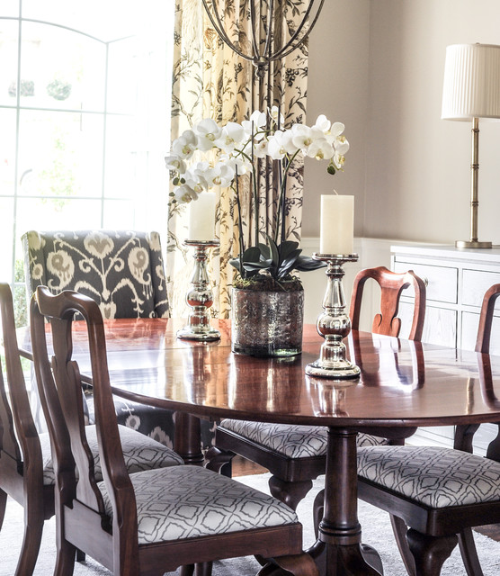 Aiken woodside updated traditional dining room for Update traditional dining room
