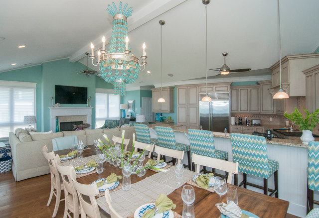 rental beach style dining room other by big sky design