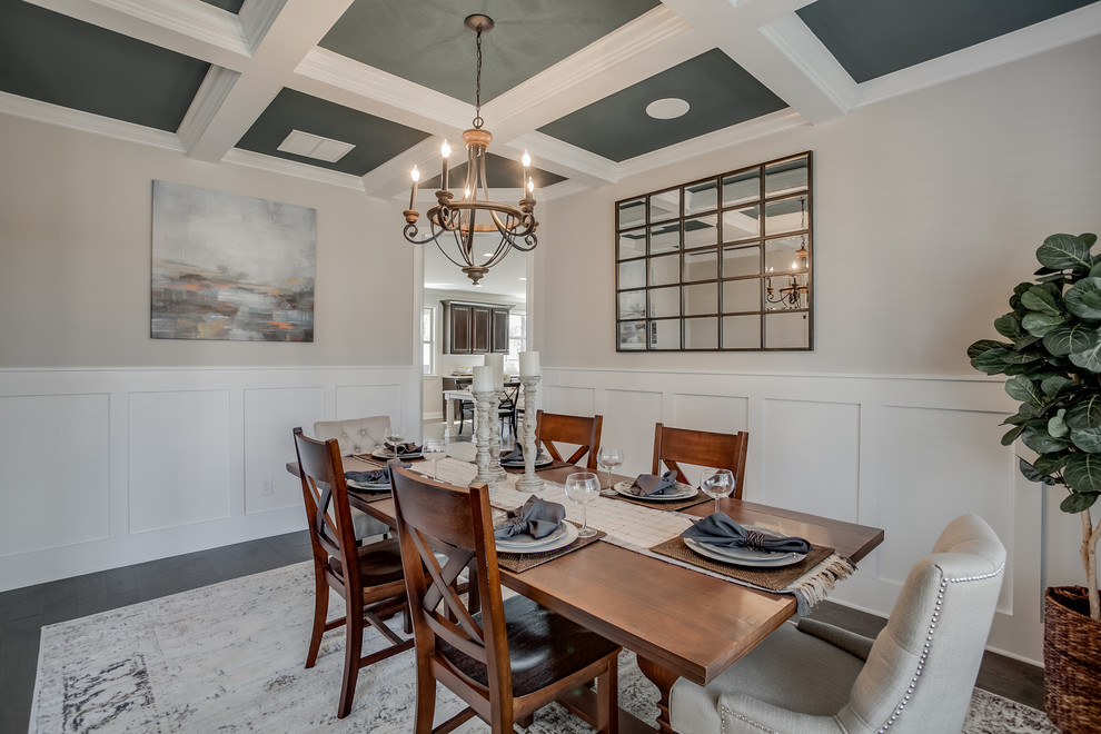 Example of a transitional dining room design in Atlanta