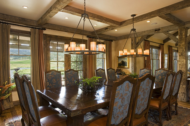 Wyoming Residence traditional-dining-room