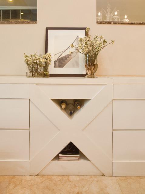 X-shape Built-in Storage Cabinet