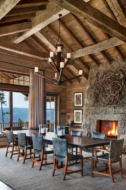 yellowstone club residence 2015 rustic dining room
