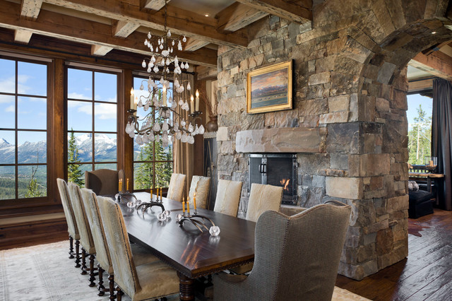 Yellowstone Club Summit Residence Rustic Dining Room