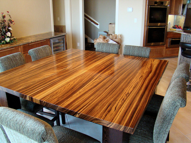 Zebrawood amp Wenge Table By DeVos Woodworking Modern