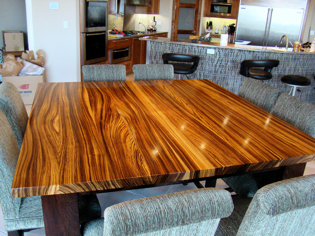 Merveilleux Zebrawood U0026 Wenge Table By DeVos Woodworking Modern Dining Room