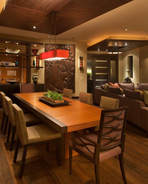 Attrayant Mid Sized Zen Medium Tone Wood Floor Great Room Photo In San Diego With  Beige