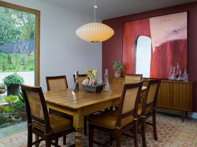 Zen Villa Midcentury Dining Room Santa Barbara By