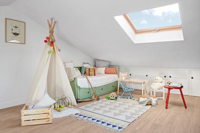 Chalet en algorta getxo n rdico dormitorio infantil for Dormitorio infantil nordico