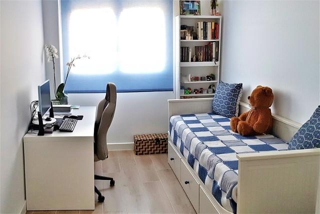 Cortinas en sal n dormitorio principal y estudio for Cortinas dormitorio principal