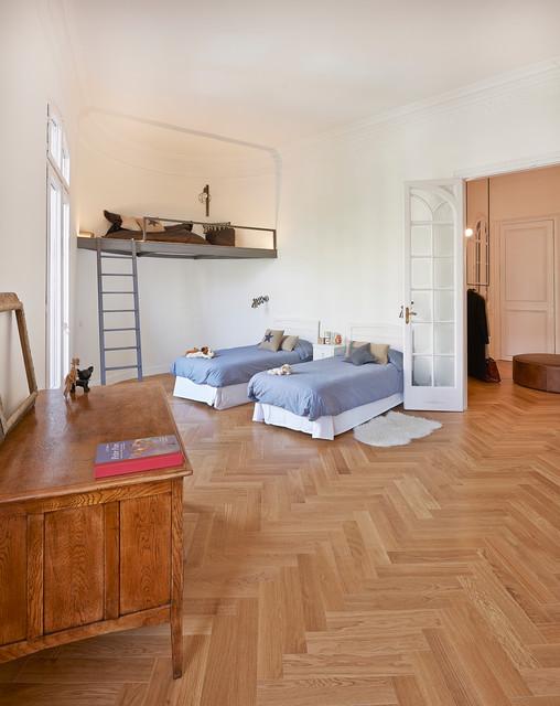 Reforma finca regia en barcelona n rdico dormitorio for Dormitorio infantil nordico