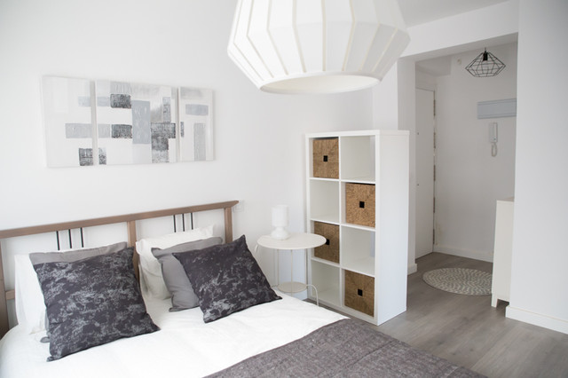 Home staging piso de 35m2 scandinavian bedroom - Home staging madrid ...