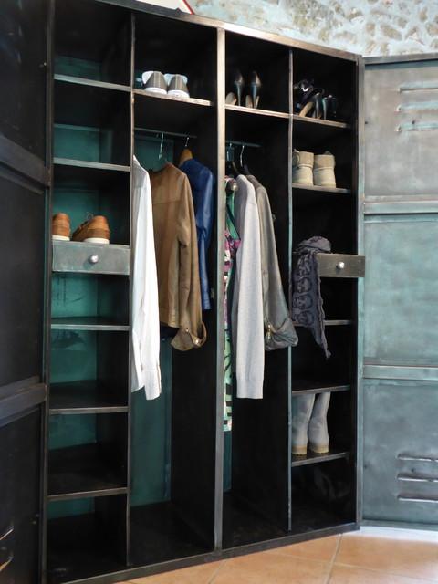 Dressing Industriel armoire métal années 50 industriel vintage dressing penderie