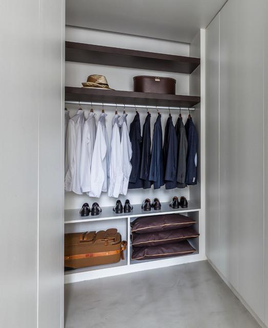 blanche contemporain armoire et dressing paris par agence frederic flanquart. Black Bedroom Furniture Sets. Home Design Ideas