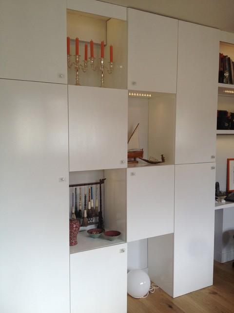 Cr ation mur de rangements sur mesure et r novation for Verriere cuisine sur mesure