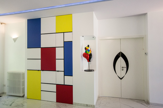 Placard inspir mondrian contemporain armoire et for Placard design contemporain
