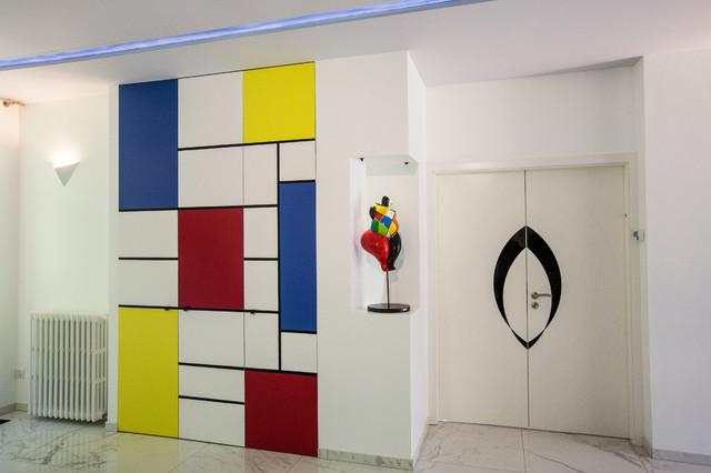 Placard inspiré Mondrian - Contemporain - Armoire et Dressing ...