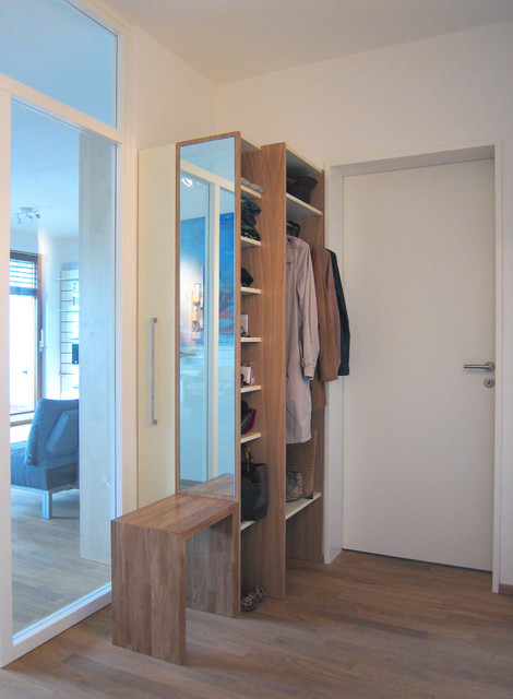 garderobe mit schuhschrank modern eingang k ln von hansen innenarchitektur. Black Bedroom Furniture Sets. Home Design Ideas