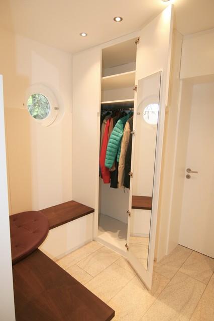 Eingang Garderobe neugestaltung eines eingangsbereiches mit garderobe und gäste wc in