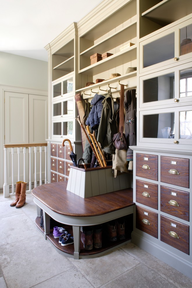 Mudroom - large traditional mudroom idea in Gloucestershire