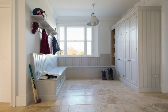 Ashurst House Classic Contemporary Grey Painted Boot Room