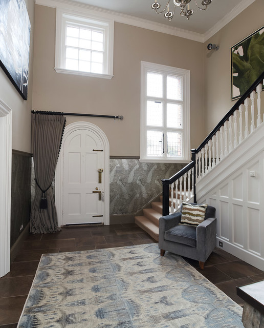 Marvelous Entrance Hall, Edwardian Country House Eclectic Entry