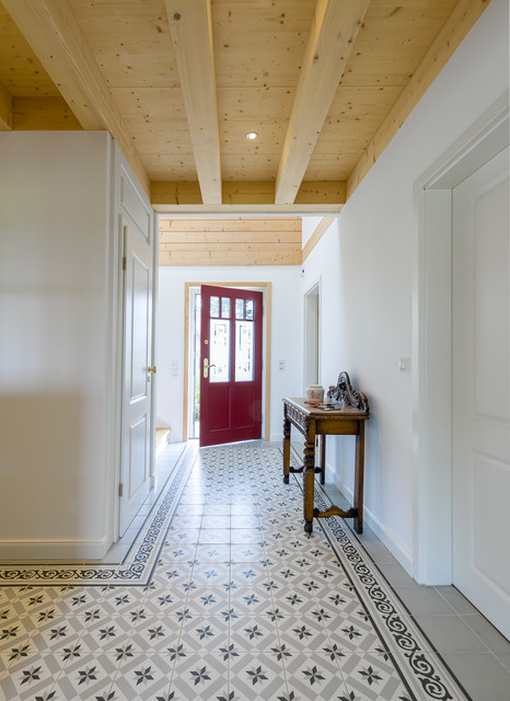 Stommel Haus style timber eco house country entrance cologne