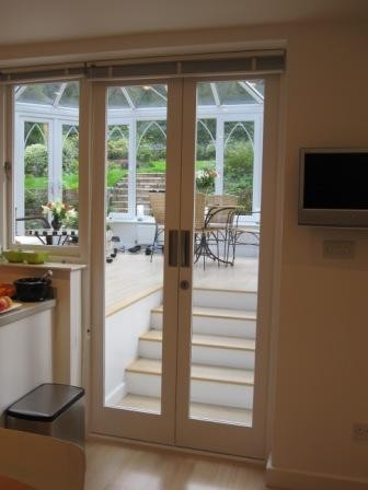 Pair of doors into conservatory modern entry other for Conservatory doors exterior