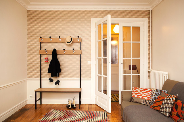 banc porte manteau maxi hall scandinave entr e paris par rien a cirer. Black Bedroom Furniture Sets. Home Design Ideas
