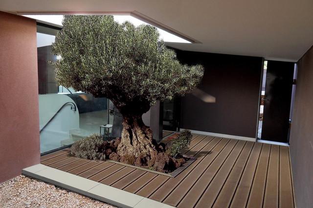 Cr ation d 39 une maison contemporaine allauch contemporain entr e o - Creation entree maison ...