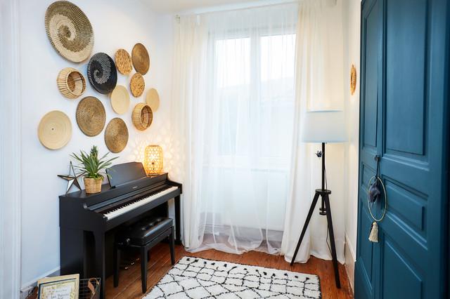 Décoration d\'une entrée d\'un appartement haussmannien ...