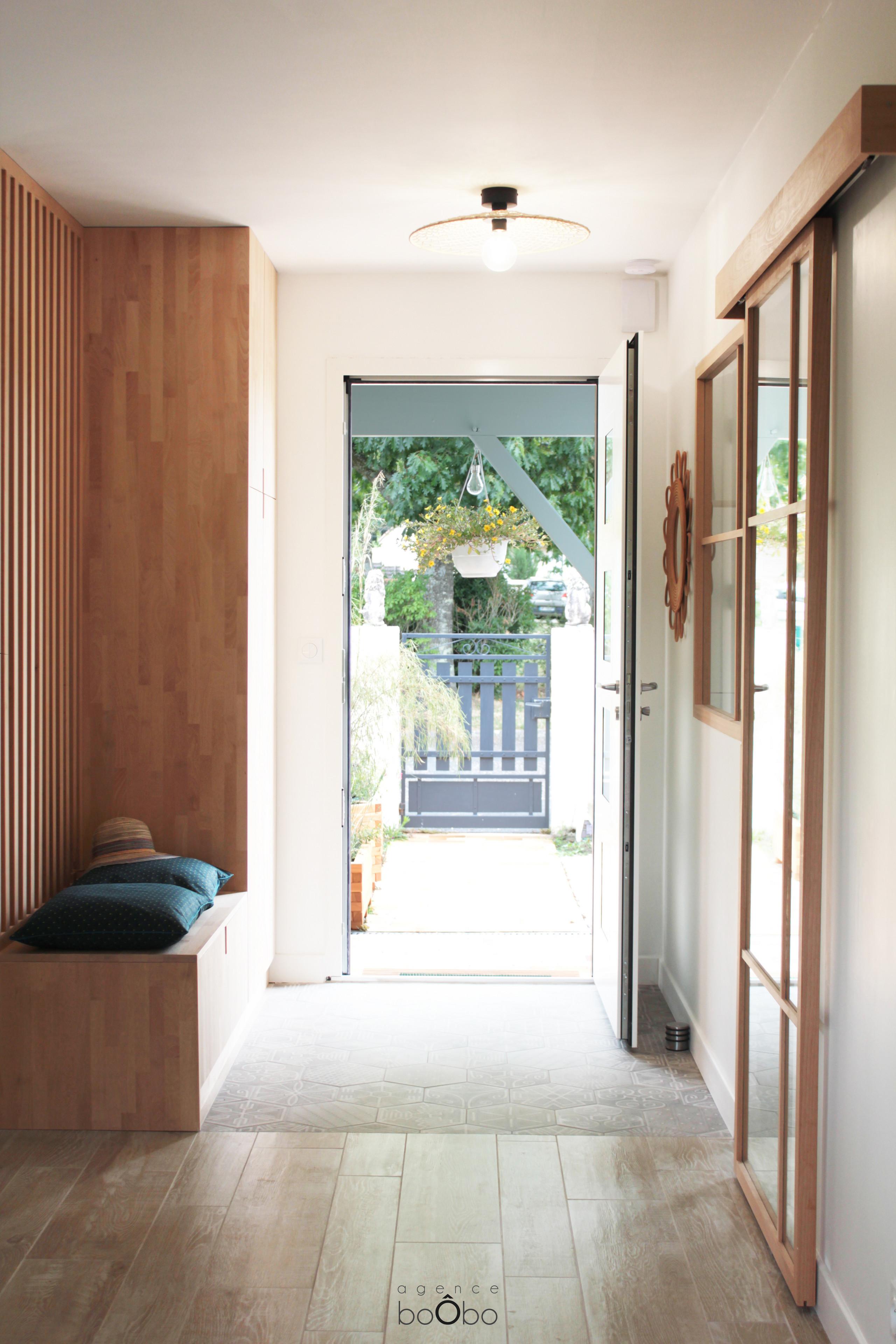 Entrée de la maison Japandi