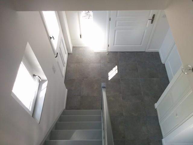 Escalier avec vide sur entrée - Contemporain - Entrée - Paris - par ...