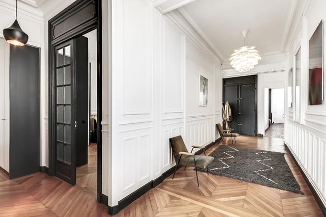 l 39 haussmannien en n b classique chic entr e paris par atelier daaa. Black Bedroom Furniture Sets. Home Design Ideas