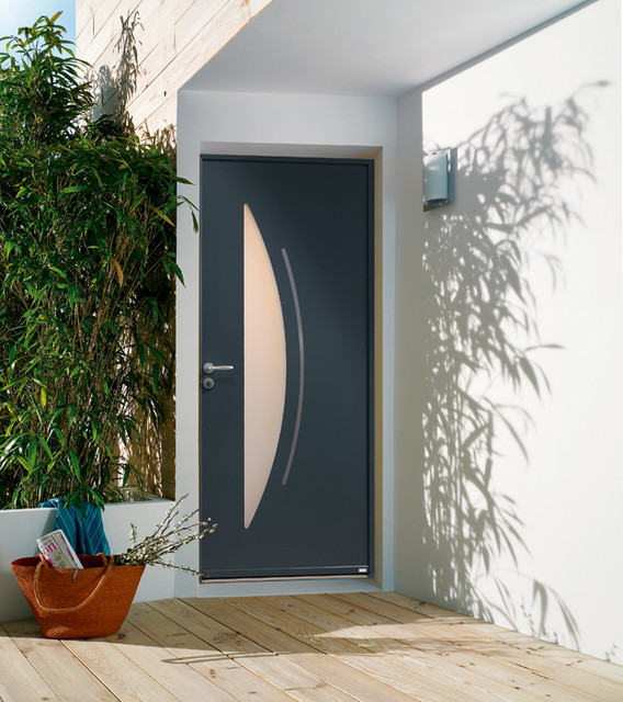 Porte d 39 entr e aluminium contemporaine cotim 1245 contemporain entr e other metro par for Porte entree alu contemporaine