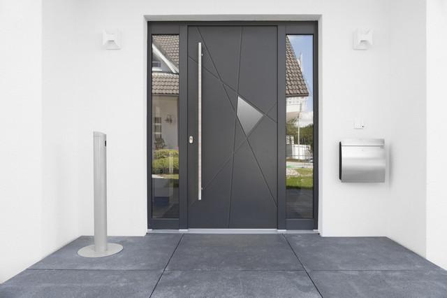 portes d 39 entr e en aluminium en bois ou en composite