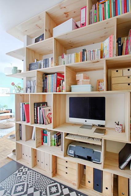 quand le couloir devient une pi ce vivre scandinave entr e paris par mon oeil dans la deco. Black Bedroom Furniture Sets. Home Design Ideas