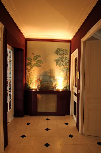 relooking d 39 une entr e dans un appartement haussmannien neuilly sur seine classique chic. Black Bedroom Furniture Sets. Home Design Ideas