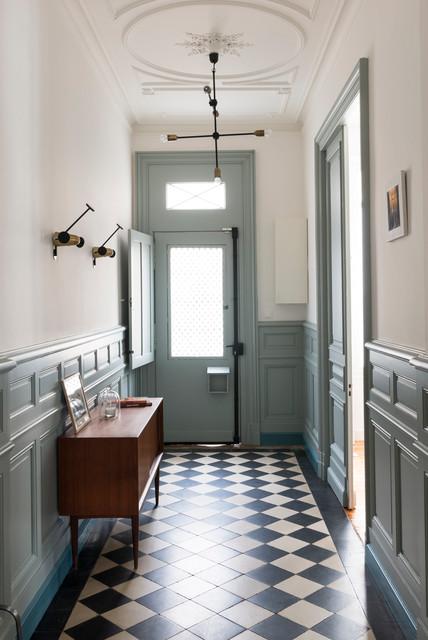 Rénovation D'Une Grande Maison Familiale - Scandinave - Entrée