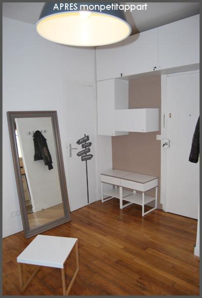 studio de 20m2 rue du commerce paris moderne entr e paris par monpetitappart. Black Bedroom Furniture Sets. Home Design Ideas