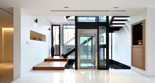 Contemporary Entry Residential Elevator