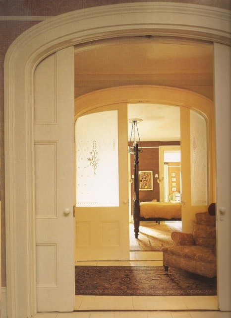 1850 39 s brownstone traditional entry new york by mark dodge design for Interior pocket doors for sale