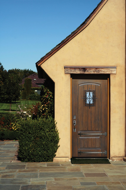"""2 Panel V-Groove Cherry and Walnut Door with Speakeasy & Clavos • 6' 8"""" Tall - Rustic - Entry ..."""