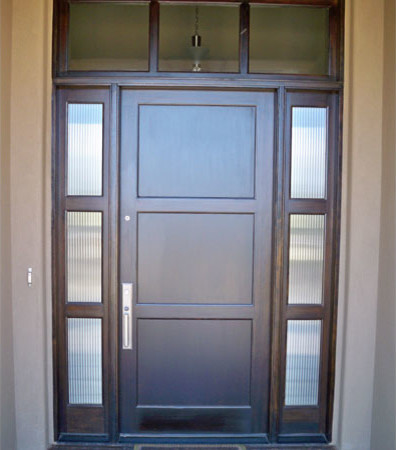 3 Panel Entry Door With Transom U0026 Sidelights Traditional Entry
