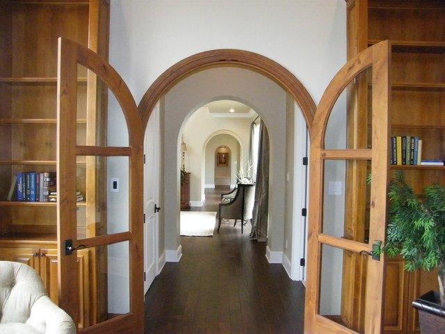 Custom arched double doors houzz entryway traditional entryway idea in austin planetlyrics