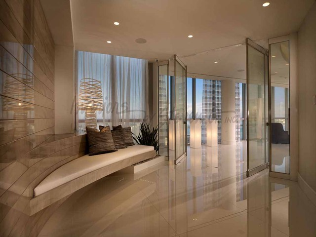 4 Story Penthouse Miami Contemporary Entry Miami