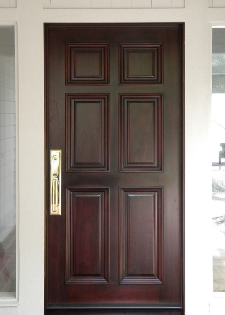 6 Panel Front Entry Door In Mahogany Traditional Entry