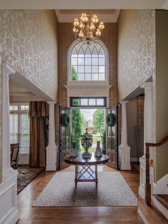 Foyer wallpaper home design ideas pictures remodel and decor
