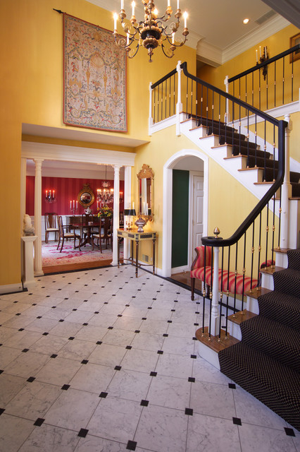 8 Black And White Marble Floors Traditional Entrance