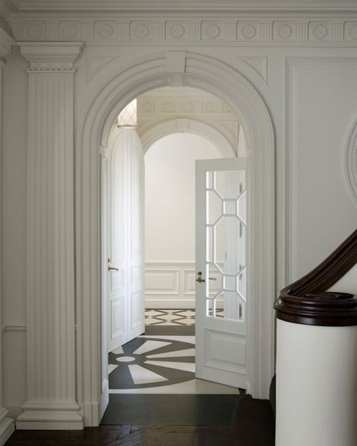 A Duplex Penthouse Apartment traditional-entry